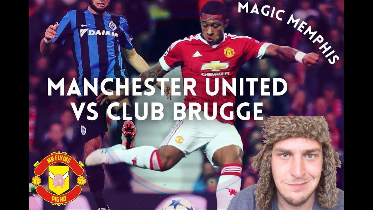 Manchester United Vs Club Brugge 3 1 Ucl Magic Memphis