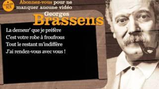 Georges Brassens - J'ai rendez vous avec vous - Paroles ( karaoké)