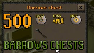 500 Barrows Chests - Loot from + Series discussion | Oldschool Runescape