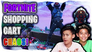 FORTNITE SHOPPING CART CHAOS!!!