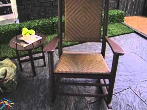 POLYWOOD® Recycled Plastic Jefferson Rocking Chair With Woven Seat And Back    Product Review Video