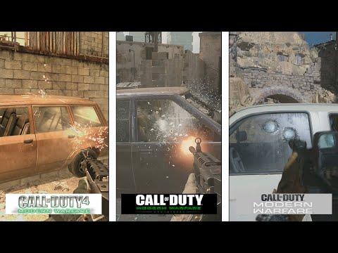 Call Of Duty 4 VS Remaster VS Modern Warfare 2019 | Details & Interaction Comparison