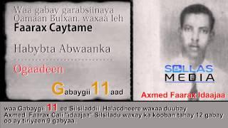 """11 Halacdheere"""" Gabaygii Faarax Caytame"""""""