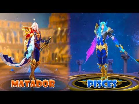 Lancelot | Pisces Zodiac Skin VS Matador Epic Skin | Mobile Legends