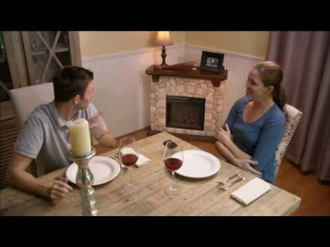 Duraflame Infrared Quartz Stone Mantel Heater with Flame Effect on QVC