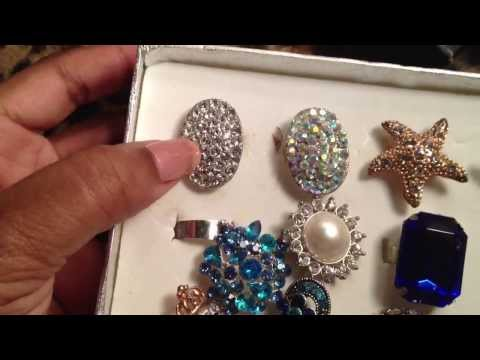 Costume jewelry ring collection part 2