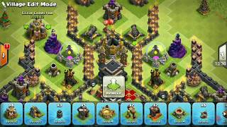 Very Beautiful and strong base in level 9 wow how its work clash of clans 2017 attack strategy