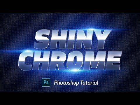 Shiny Chrome Text effect - Photoshop Tutorial thumbnail