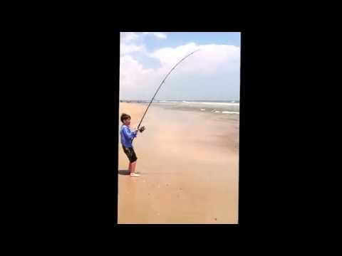 Surf Fishing - Red Drum On Onslow Beach, Camp Lejeune, NC - June 2014.