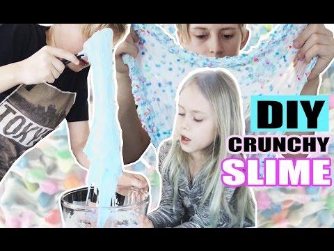 Slim med sten (DIY fluffy crunchy slime)