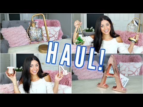 HOME DECOR HAUL! T.J.MAXX & TARGET! GOLD, MARBLE & COPPER DECOR!