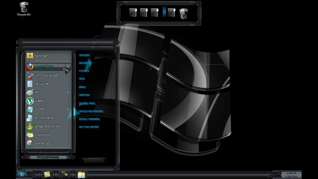 Black Glass Windows 10 Theme
