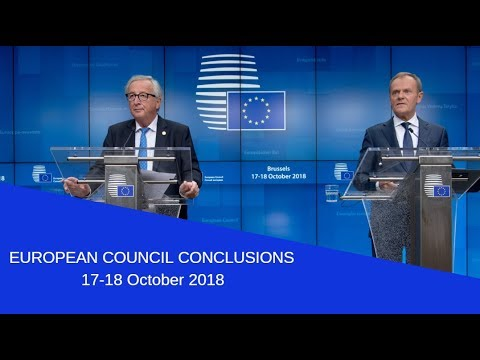 European Council press conference