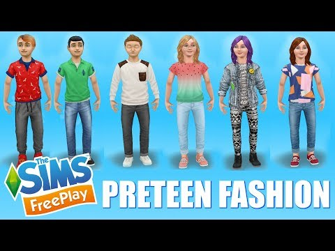 Sims Freeplay 👗👠👕 Preteen Fashion