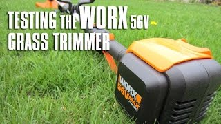 Testing The WORX 56V Battery Operated Grass Trimmer