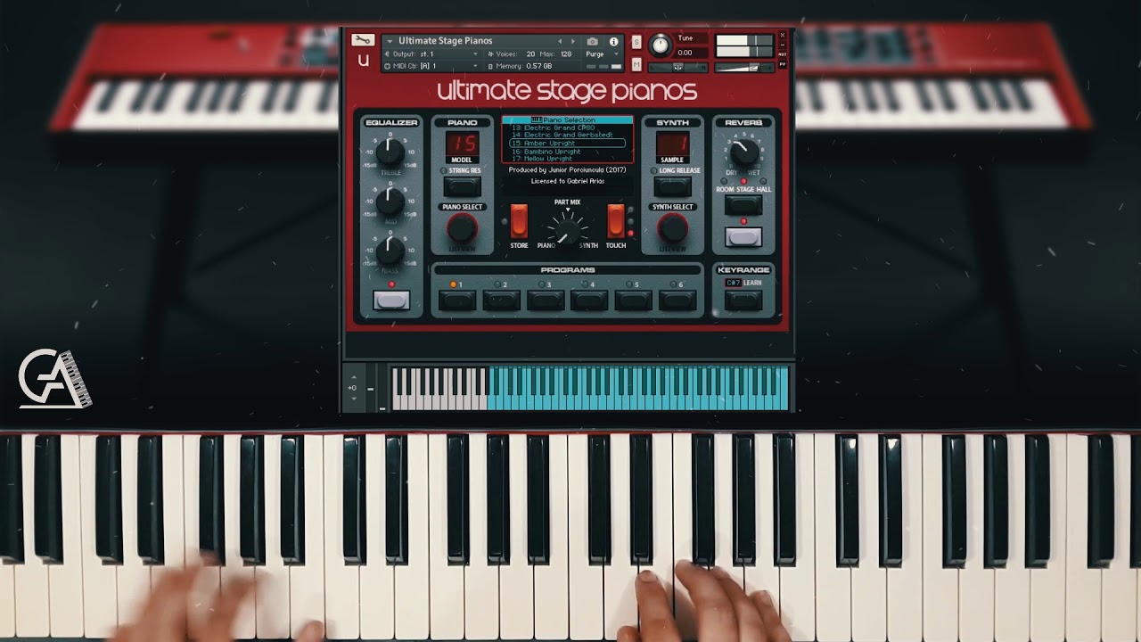 Nord Stage 3 Library For Kontakt Amber Upright Ultimate Stage