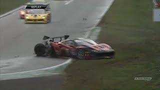 Ferrari Challenge Europe 2018. Race 2 Autodromo Nazionale Monza. Giuseppe Ramelli Crash