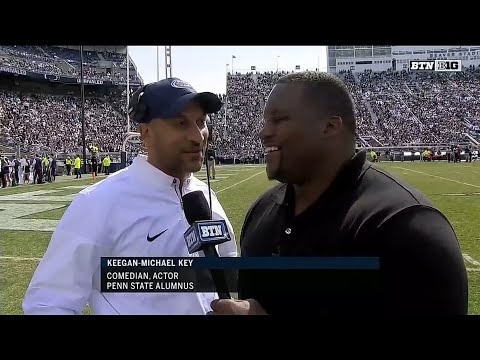 Keegan-Michael Key Talks with Spice Adams - Penn State Spring Football