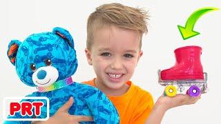 Vlad e Nikita constroem seus próprios brinquedos