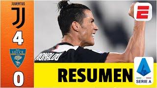 Juventus Vs Lecce Resumen Serie A | Cristiano Ronaldo Se Acerca Al Liderato De Goleo | Exclusivos
