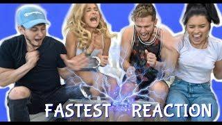 Fastest Reaction Shock Game ft Chachi Gonzales DavidAlvareeezy and Jazmine Garcia
