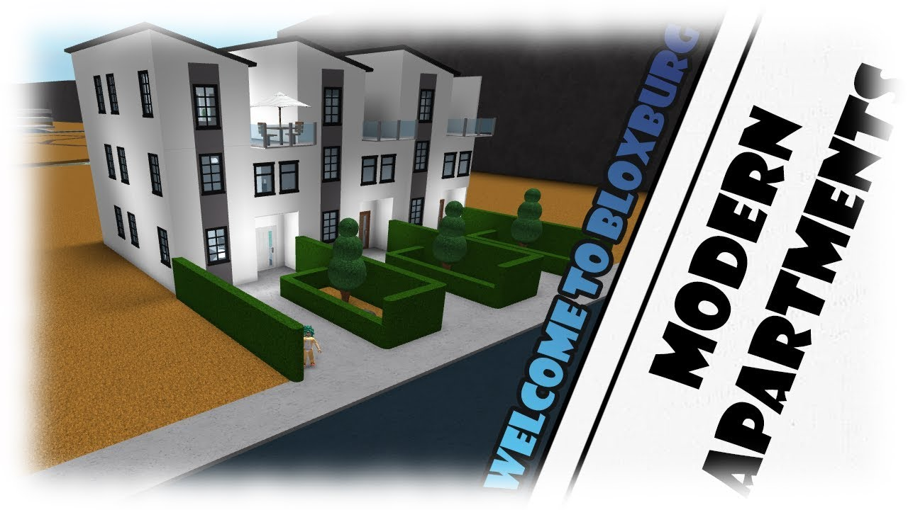 Roblox|MODERN APARTMENTS| Bloxburg - YouTube