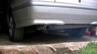 mercedes w202 cold start c220 2 2 cdi straight pipe turbo sound whistle
