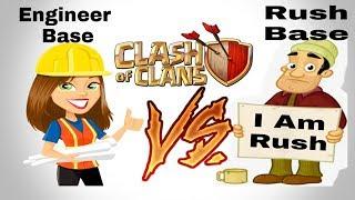 Engineer Base vs Rush Base   Clash of Clans   How is Helpfull Engineer Base