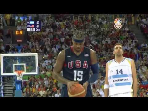 Basketball_USA vs Argentina_ 2008 Beijing Olympic Games Basketball