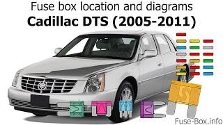 fuse box location and diagrams: cadillac dts (2005-2011) - youtube  youtube