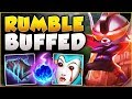 watch he video of WTF? RIOT 100% GAVE RUMBLE TOO MUCH DMG! FLAMETHROWER RUMBLE SEASON 8 TOP GAMEPLAY League of Legends