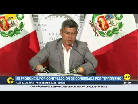 Luis Galarreta: Foronda debe explicar por qué trae a un terrorista al Congreso