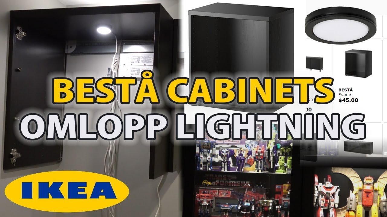IKEA Besta Frame Display Case Installation Omlopp Lighting YouTube