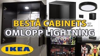 IKEA Besta Frame (Display Case) Installation & Omlopp Lighting