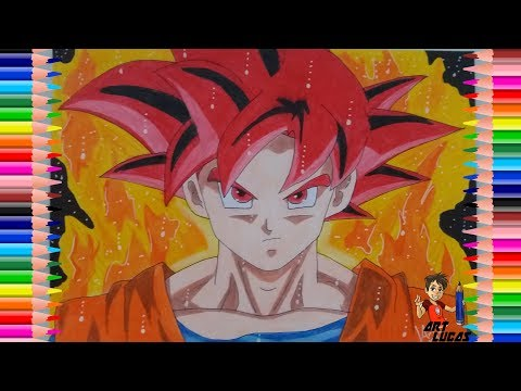 Como Desenhar Goku God ( Deus) - How To Draw Goku God ( Passo a Passo)
