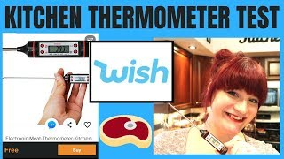 WISH APP DIGITAL KITCHEN THERMOMETER TEST & REVIEW! WISH WEDNESDAY!