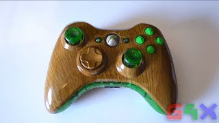 Xbox Forest Green Wooden Controller Mod List Parts Needed Wooden Case Modded
