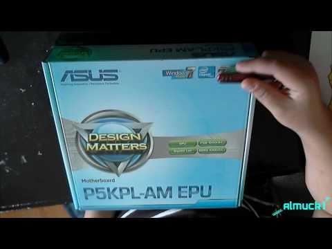 Asus Intel P5KPL-AM EPU Motherboard Unboxing