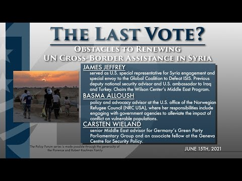 Policy Forum: The Last Vote? Obstacles to Renewing UN Cross-Border Assistance in Syria