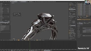[TUTORIAL] Blender Demo - Jewelry CAD Design [ft. Amos Dudley]