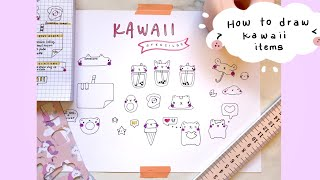 How to draw kaẁaii characters using stencils