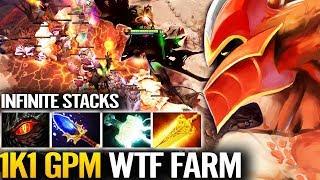 WTF!? 15 Mins - 10k NETWORLD Jungle Farm - Dragon Knight Hard Carry Dota 2