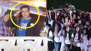 Salman Khan's CRAZY Fans Celebrating TUBELIGHT Trailer Outside His House Galaxy Apartments