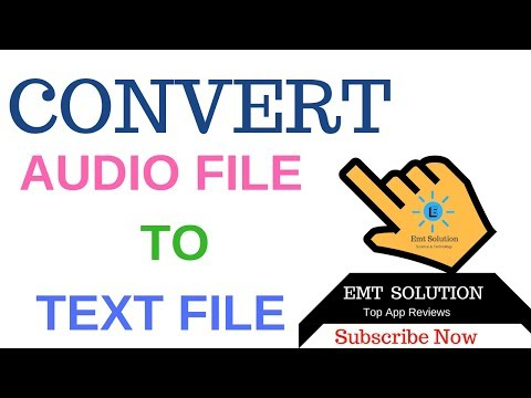Automatic Convert Audio to Text file 100% Correct