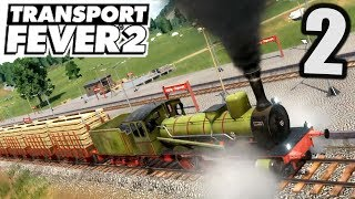 Transport Fever 2 #2 340m langer Zug ! |  Gameplay Deutsch