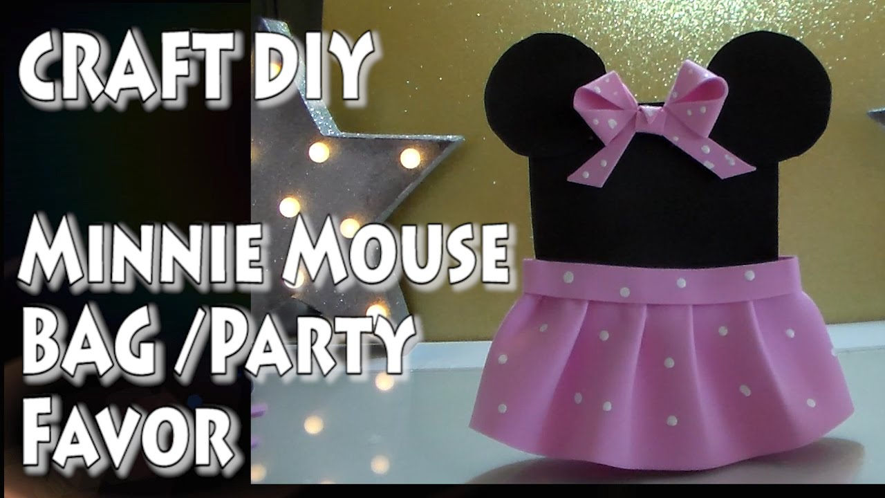 Craft Diy Minnie Mouse Bag Party Favor By Cup N Cakes Gourmet You