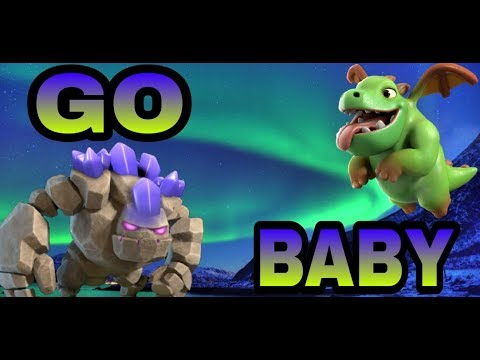 GO BABY DRAGON ATTACKS-CLASH OF CLANS TH9
