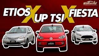 VW UP! TSI X FORD FIESTA SPORT X TOYOTA ETIOS - VOLTA RÁPIDA COM RUBENS BARRICHELLO #58 | ACELERADOS