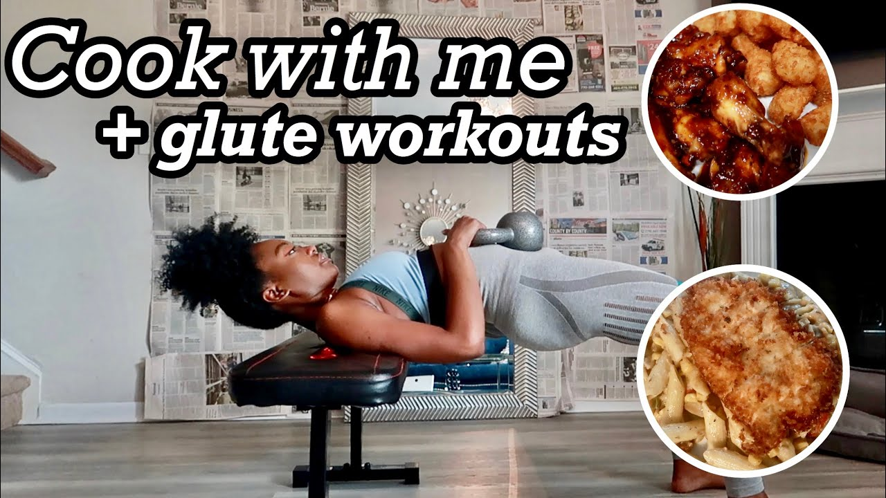 KickinItWithKim 💕Cook with me (Jerk Pasta + more) & Glute workouts. Gotta get this booty right!