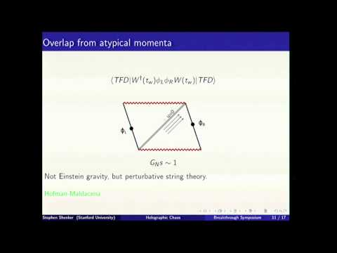 Stephen Shenker: 2015 Breakthrough Prize in Fundamental Physics Symposium
